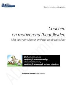 Coachen en motiverend (bege)leiden