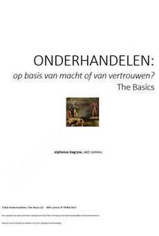 Onderhandelen. The Basics van win/win en win/lose