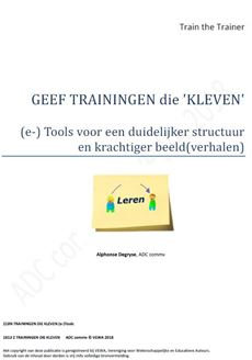 Trainingen en presentaties die 'kleven'